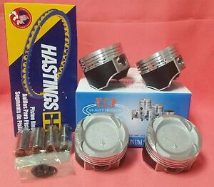 Ycp 75mm Vitara Pistons Teflon Coated Low Comp Rings Honda Crx Civic D16 Turbo