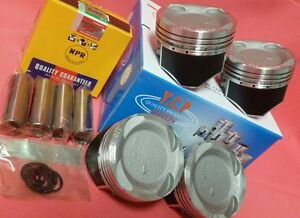 Ycp 75mm Vitara Pistons Teflon Coated Low Comp Npr Rings Honda D16 Turbo