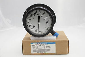 Ashcroft 4 5 1010r 1 2 npt Lower Connection 10000 Psi Pressure Gauge