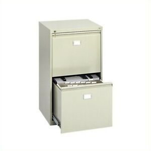 Safco 2 Drawer Vertical Metal File Cabinet In Tropic Sand