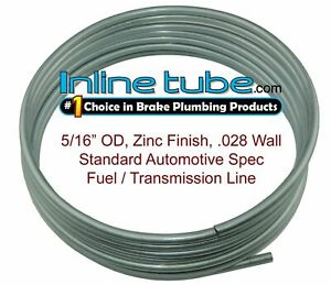 Oe Zinc Automotive Steel Brake Fuel Transmission Line Tubing 5 16 Od Coil Roll