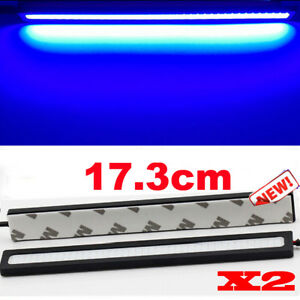 Extreme Bright Deep Blue Cob Led Waterproof Daytime Running Lights Lamps Drl