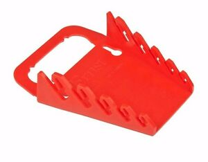 Ernst 5042 5 Tool Gripper Wrench Organizer Red