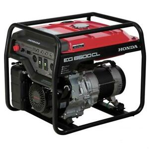 Honda Generator Eg6500cl Eg6500 W Portable Davr Gas Power Camping Rv