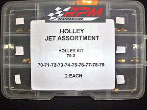 Holley Carburetor 1 4 32 Gas Main Jets Assortment Kit 70 79 2 Each 20pack 70 2