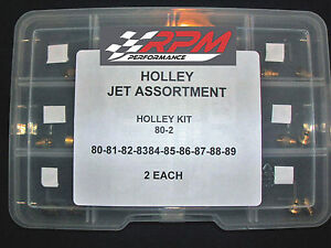 Holley Carburetor 1 4 32 Gas Main Jets Assortment Kit 80 89 2 Each 20pack 80 2