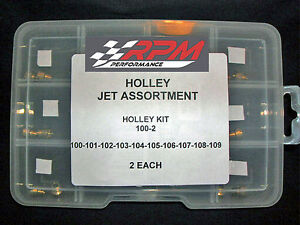 Holley Carburetor 1 4 32 Gas Main Jets Assortment Kit 100 109 2each 20pack 100 2