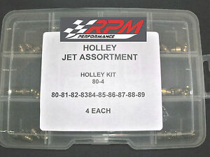 Holley Carburetor 1 4 32 Gas Main Jets Assortment Kit 80 89 4 Each 40pack 80 4