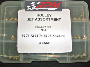 Holley Carburetor 1 4 32 Gas Main Jets Assortment Kit 70 79 4 Each 40pack 70 4