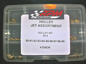 Holley Carburetor 1 4 32 Gas Main Jets Assortment Kit 60 69 4 Each 40pack 60 4