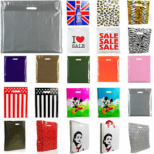 Plastic Carrier Bags Strong Shopping Supermarket Shop Retail Shop Bag all Sizes
