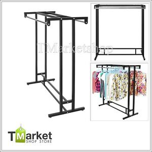 Garment Rack Stainless Steel Double Rod Clothes Line Washing Hanging Organizer
