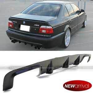 Fits 99 03 E39 5 Series M5 Only Real Carbon Fiber Rear Diffuser Bumper Body Kit