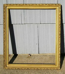 Antique Aesthetic Eastlake Victorian Ornate Edge Gold Gilt Picture Frame 17 X 20