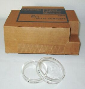 12 New Corning 3160 Glass Pyrex Petri Dish Dishes Top Cover Bottom 60x15 Mm