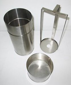 New Petri Dish Stainless Steel Sterilization Container Removable Rack Lid