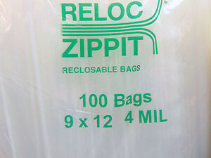 4mil 9x12 Zip Lock Bags 400 Large Heavy Duty Thick 9 X 12 Clear Reclosable