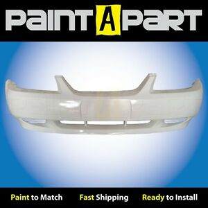 2002 2003 2004 Ford Mustang Base Front Bumper Painted Z1 Oxford White