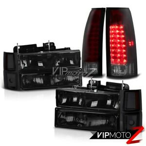 94 98 Chevy C10 C K Suburban 1500 2500 Cherry Red Led Tail Lamps Head Lights