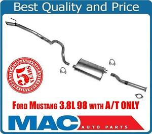 Muffler Exhaust System For Ford Mustang 3 8l 98 With A t Only 52082 18971 55177