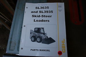 Gehl Sl3635 Sl3935 Skid Steer Loader Parts Manual Book Catalog List Spare 2004