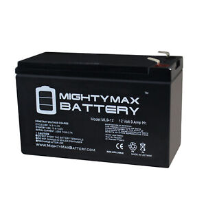 Mighty Max 12V 9AH SLA Battery for Lowrance Portable Fishfinder + 12V Charger