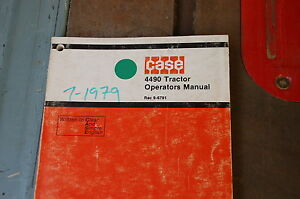 Case 4490 Tractor Loader Owner Operator Operation Manual Front End Book Guide
