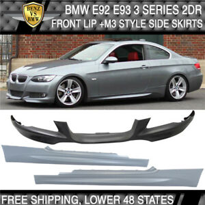 Fit 07 10 Bmw E92 E93 Coupe Mtech Msport Front Bumper Lip M3 Style Side Skirts