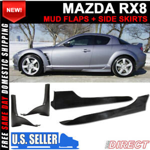 For 04 10 Mazda Rx8 Rx 8 Oe Style Pu Front Mud Flaps Splash Guards Side Skirts