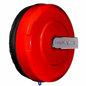 33 Hummer H3 Xtreme Tire Cover Color Matched Victory Red