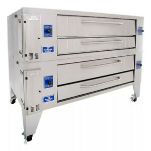 Bakers Pride Y 602bl Gas Double Deck Pizza Oven