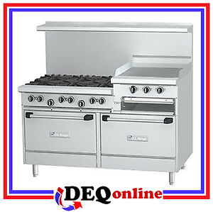 Garland U60 6r24rr U Series 60 Raised Gas Restaurant Range With 6 Open Burners