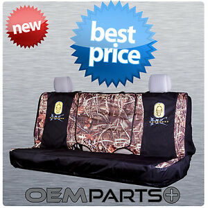 New Hardcore Full Size Rear Bench Seat Cover Universal Camouflage Truck Suv Logo