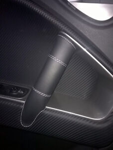Coating Cover Handles Internal Alfa Romeo Mito Genuine Leather Black