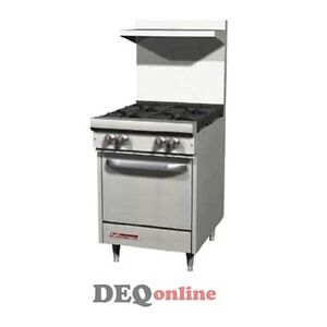 Southbend S24e 24 Gas Range W Space Saver Oven 4 Open Burners