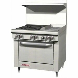 Southbend S36d 1g 36 Gas Range W Standard Oven 4 Open Burners W 12 Griddle