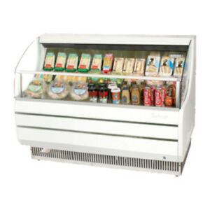 Turbo Air Tom 60sw n Open Display Case Cooler In White tom 60s