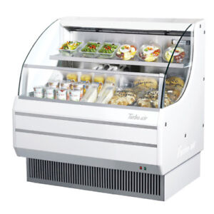Turbo Air Tom 40lw n Open Display Case Cooler Low Profile With White Exterior