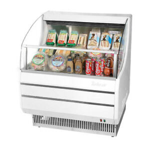 Turbo Air Tom 30s Open Display Case Cooler In White