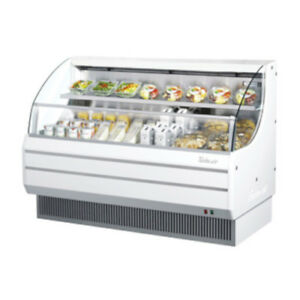 Turbo Air Tom 60l Open Display Case Cooler Low Profile In White