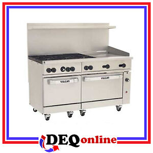 Vulcan 60ss 6b24g Endurance 60 Gas Range 6 Burner W 24 Griddle Ng Or Lp
