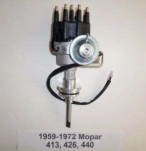 Mopar 413 426 440 Black Ready to run Small Cap Hei Distributor 1959