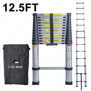 12 5ft Aluminum Multi Purpose Ladder Telescoping Telescopic Folding Extension