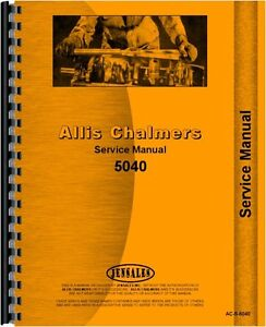Allis Chalmers Tractor Service Manual 5040 Ac s 5040