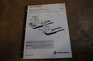 Bt Prime Mover Pmx Qmx Electric Low Lift Pallet Truck Parts Manual Book Catalog