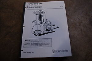 Bt Prime Mover Rr45 Electric Reach Truck Forklift Parts Manual Catalog Book 1991