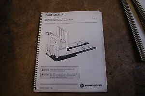 Bt Prime Mover Pmx 2 Electric Low Lift Pallet Truck Parts Manual Catalog Book