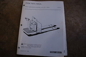 Bt Prime Mover Pe60w Electric Pallet Truck Jack Parts Manual Catalog Book 1989