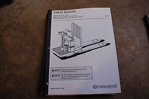 Bt Prime Mover Hx65 Electric Pallet Jack Truck Parts Manual Catalog Book 1991