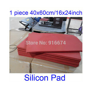1 Sheet 8mm Thick 40x60cm 16x24 High Temperature Silicone Pad Plate Heat Press